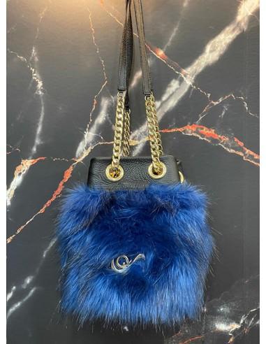 Brigitte Fur Azul Negro