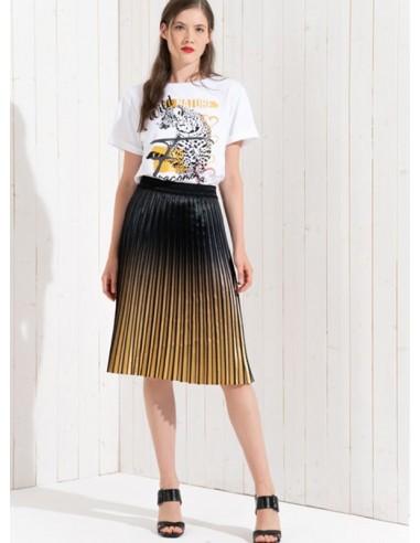Midi Skirt B/Gold