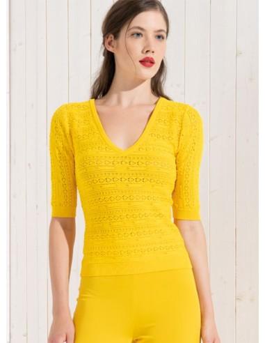 Vneck Pull Yellow